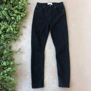 Reformation High & Skinny Jeans in Black